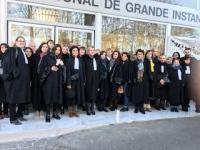 Les avocats de l'Essonne en grève ce 10 décembre 2018 contre la réforme de la justice