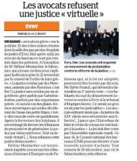 LES AVOCATS DE L'ESSONNE EN GRÈVE CONTRE LE PROJET DE REFORME DE LA JUSTICE